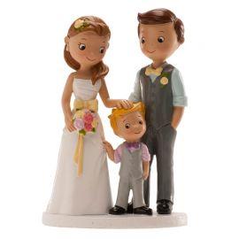 Muñecos de Boda con Niño 16 cm