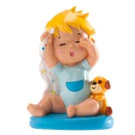 Figura Bautizo Niño Bostezando 10 cm