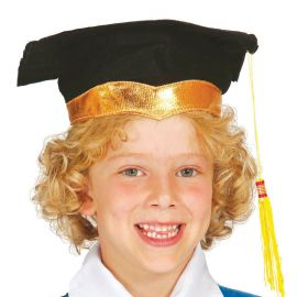 Birrete de Graduación Infantil con Cinta Dorada