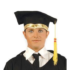 Birrete de Graduación Adulto con detalle Dorado