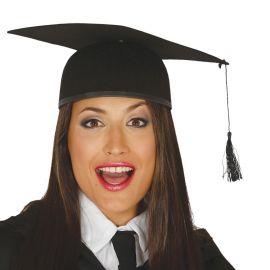 Birrete de Graduación Negro para Adulto