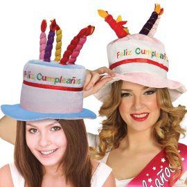 Gorro con Tarta de Feliz Cumpleaños