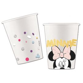 8 Vasos Minnie Diamantes 266 ml