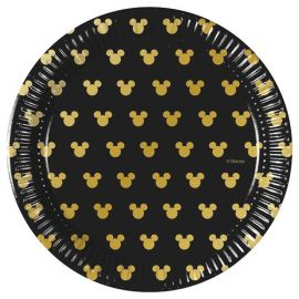 8 Platos Mickey Gold 20 cm