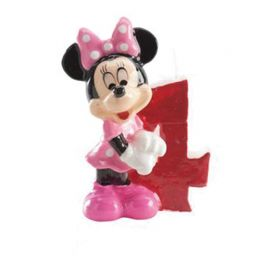 Vela Nº 4 Minnie Mouse 6,5 cm