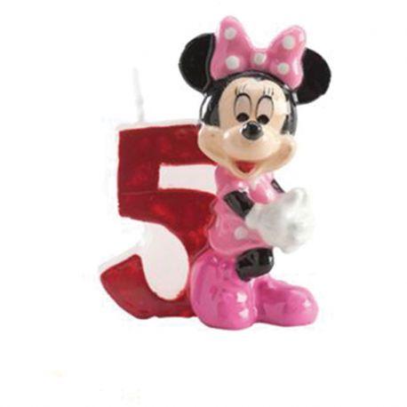8 Velas Nº 5 Minnie Mouse 6,5 cm