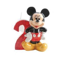 Vela Nº 2 Mickey Mouse 6,5 cm