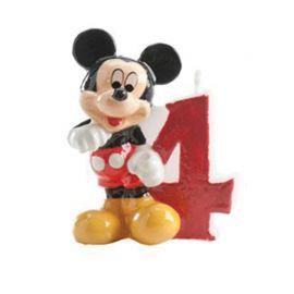 Vela Nº 4 Mickey Mouse 6,5 cm
