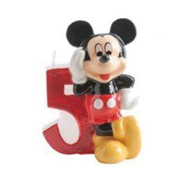 8 Velas Nº 5 Mickey Mouse 6,5 cm