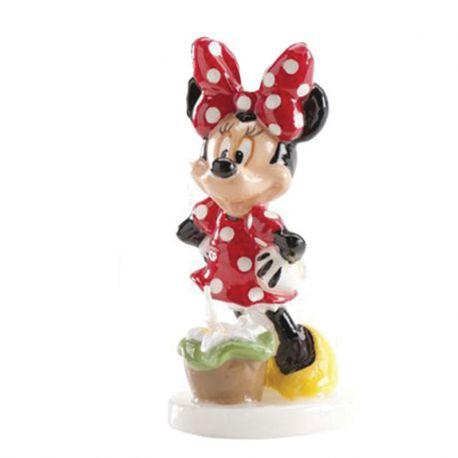 6 Velas Minnie Mouse 8 cm