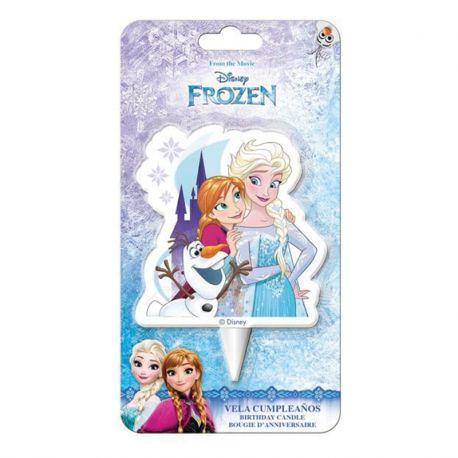 12 Velas Forma Elsa, Anna y Olaf 2D