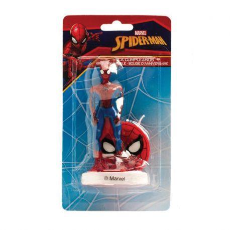 6 Velas de Cumpleaños Spiderman 9 cm 3D
