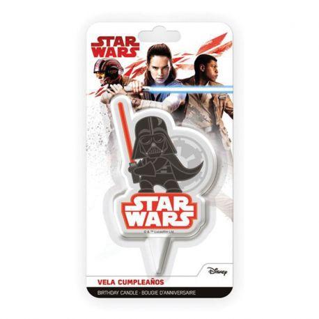 12 Velas de Cumpleaños Darth Vader 7,5 cm 2D