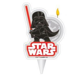 Vela de Cumpleaños Darth Vader 7,5 cm 2D