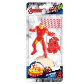 Pack de Velas Iron Man para Pastel