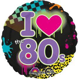 Globo I Love Años 80 de Foil