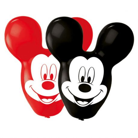 4 Globos en Forma Mickey Mouse 55,8 cm