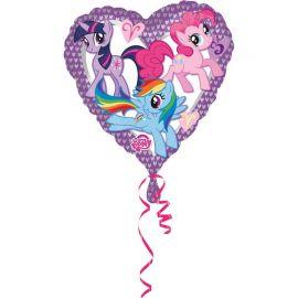 Globo My Little Pony Forma Corazón Foil