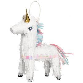 Mini Piñata Unicornio Magico Decorativo 19 cm