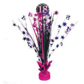 Centro de Mesa Elegant Rosa 18 Años 33 cm
