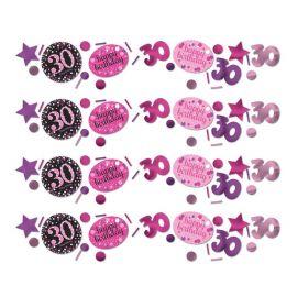 Confeti Elegant Rosa Celebración 30 Años