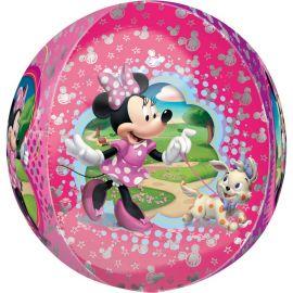 Globo Minnie Mouse y Pero Esferico 38 cm x 40 cm