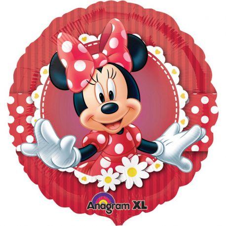 Globo Minnie Mouse Rojo de Foil Redondo
