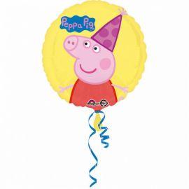 Globo Peppa Pig con Gorro de Foil Redondo