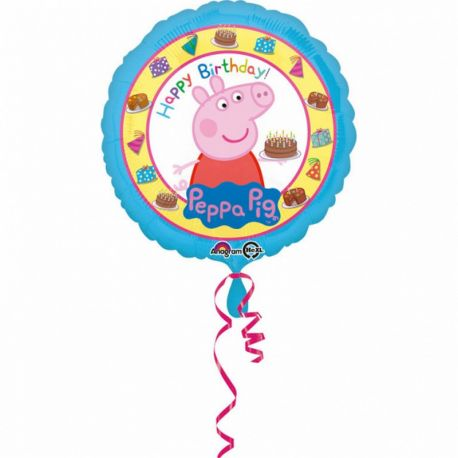 Globo Peppa Pig Happy Birthday de Foil