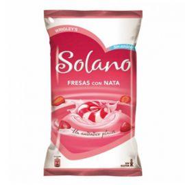 Caramelos Solano Corazón de Fresas con Nata 12 paquetes