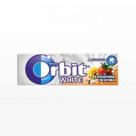 Chicles Orbit White de Fresa 30 paquetes