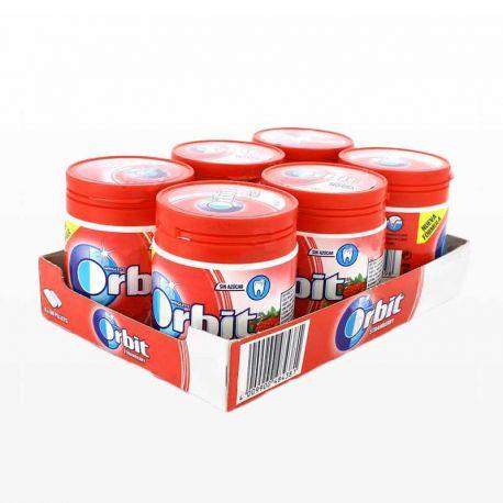 Chicles Orbit Bote de Fresa 6 paquetes