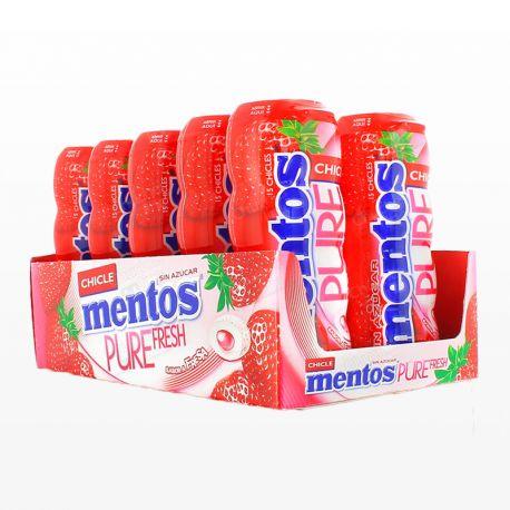 Chicles Mentos de Fresa 10 paquetes