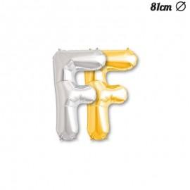 Globo Letra F Foil 86 cm