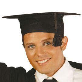 Birrete de Estudiante Graduado Negro