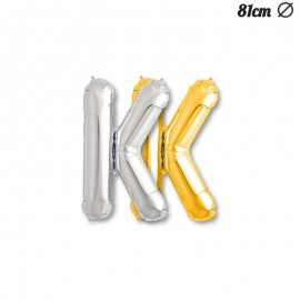 Globo Letra K Foil 81 cm