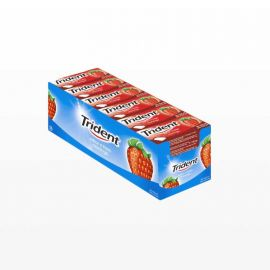 Chicles Trident Fruit de Fresa 24 paquetes