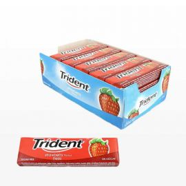 Chicles Trident Stick Fresa 24 paquetes