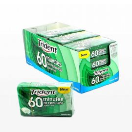 Chicles Bote Trident 60Min Hierbabuena 6 paquetes
