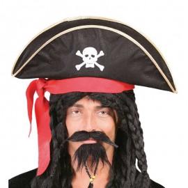 Sombrero de Pirata con Cinta Roja