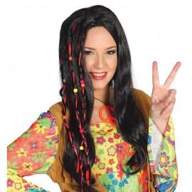 Peluca Negra de Hippie