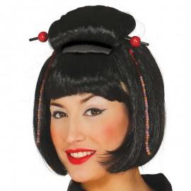 Peluca Geisha Japonesa