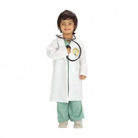 Disfraz de Doctor Verde con Blanco Infantil