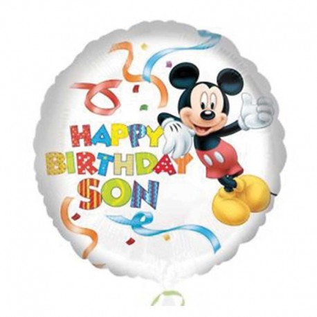 Globo Mickey Mouse Happy Birthday Son