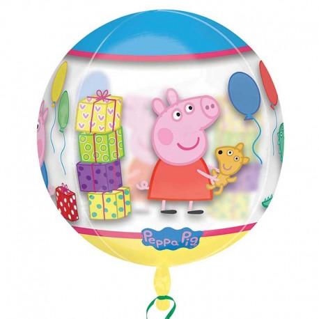Globo Peppa Pig Esferico 38 cm x 40 cm
