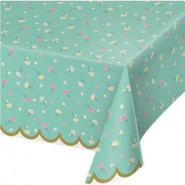 Mantel Floral Fresh Mint 137cm x 259 cm