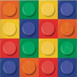 16 Servilletas Lego
