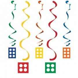 5 Colgantes Lego