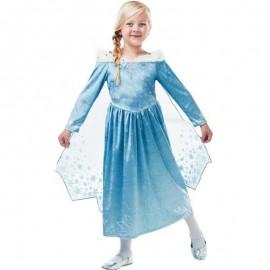 Disfraz de Elsa de Frozen con Capa Corta Infantil