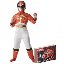Disfraz de Power Ranger Musculoso en Caja Infantil